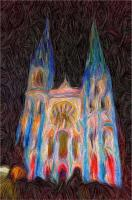 Chartres Catherdal Lightshow1